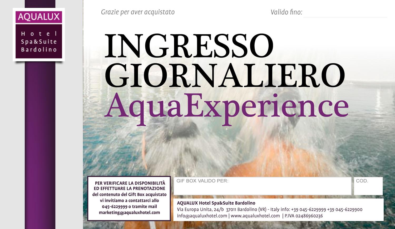 Ingresso giornaliero aquaexperience aqualux hotel shop - Piscine preistoriche ingresso giornaliero ...